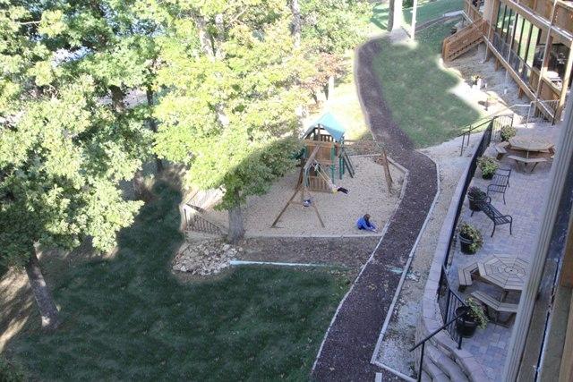 High view of playground and balcony at Vickery Resort