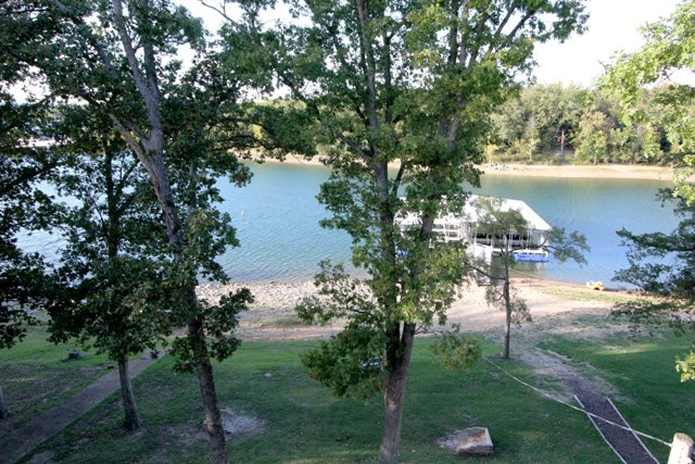 View of lake from Vickery Resort