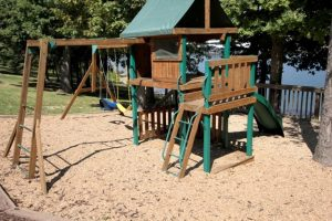 Playground with swings and ladders