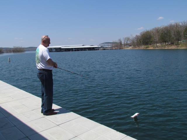 Man fishing at Table Rock