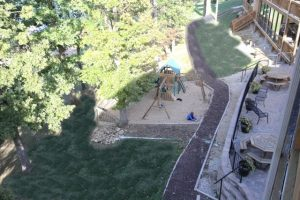 High view of playground and balcony at Vickery Resort